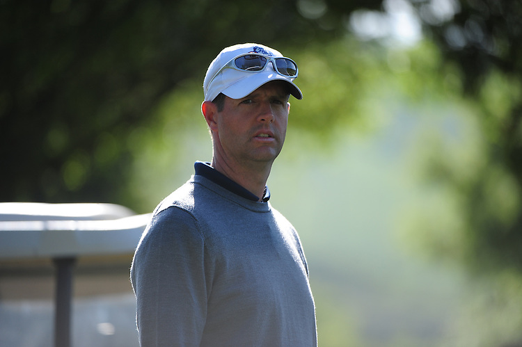 April 18, 2012; Hollister, CA, USA; Gonzaga Bulldogs men's golf coach Robert Gray during the WCC Golf Championships at San Juan Oaks Golf Club.