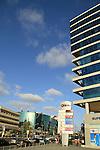 Israel, Sharon region, Herzliya's business district