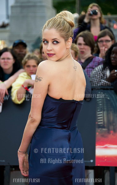Peaches Geldof arriving for the World Premiere of 'Harry Potter & the Deathly Hallows pt2', Trafalgar Square, London. 07/07/2011  Picture by: James McCauley / Featureflash