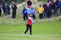 Marina Alex of Team USA on the 2nd fairway during Day 2 Fourball at the Solheim Cup 2019, Gleneagles Golf CLub, Auchterarder, Perthshire, Scotland. 14/09/2019.<br /> Picture Thos Caffrey / Golffile.ie<br /> <br /> All photo usage must carry mandatory copyright credit (© Golffile | Thos Caffrey)
