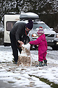 "28/03/16 <br /> <br /> Greta Williams (3) with her Aunty Claire Jones.<br /> <br /> Holiday makers camping in the Derbyshire Peak District woke up to an unexpected white blanket this morning, thanks to Storm Katie.<br /> The covering of snow meant that many campers cut short their plans for a long weekend away, to brave the icy roads and head home early on Monday morning.<br /> But it wasn't all bad news for some of the younger guests at Grin Low Caravan Site in Buxton.<br /> Three-year-old Greta Williams made the most of the morning's surprise by building a snowman and enjoying snowball fights with her aunt Claire Jones. <br /> Claire said it was the first time she had been camping in the snow. <br /> ""It was completely unexpected but it's made it a trip to remember,""she said. <br /> ""Greta really enjoyed making the snowman, but I think we'll head back home now in case any more falls.""<br /> For Chris and Lorraine McCoy the first they knew of the snow was when they woke up and stuck their heads out of their tent.<br /> They had travelled to Buxton from Warwickshire with their four-year-old son Joe, to enjoy a weekend break.<br /> ""It's all part of the adventure,"" said Chris. ""It's a bit cold in the tent but we'll soon warm up, and it's made the surrounding countryside really beautiful.""<br /> <br /> All Rights Reserved: F Stop Press Ltd. +44(0)1335 418365   +44 (0)7765 242650 www.fstoppress.com"