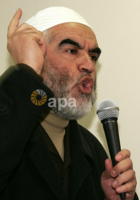 Head of the Islamic Movement, Sheikh Raed Salah attends a celebration in Jerusalem on January 1, 2011. Photo by Mahfouz Abu Turk