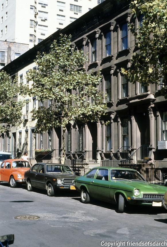 New York City: Brownstones, Yorkville.