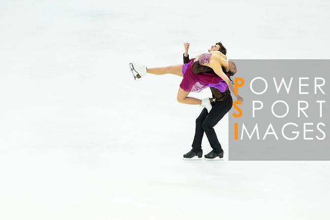 TAIPEI, TAIWAN - JANUARY 23:  Yura Min and Timothy Koleto of South Korea perform their routine at the Ice Dance Free Dance event at the Ice Dance Free Dance event during the Four Continents Figure Skating Championships on January 23, 2014 in Taipei, Taiwan.  Photo by Victor Fraile / Power Sport Images *** Local Caption *** Yura Min; Timothy Koleto