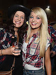 Aine Reenan and Grace Maguire pictured at the barn dance at Oberstown farm. Photo:Colin Bell/pressphotos.ie