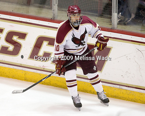 Cody King (BC - 10) - The Boston College Eagles defeated the Endicott College Gulls 6-1 in a Northeast Collegiate Hockey Association (ACHA) matchup on Tuesday, November 3, 2009, at Conte Forum in Chestnut Hill, Massachusetts.