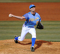 April 10, 2009: RHP Cpry Gearrin of the Myrtle Beach Pelicans, Class A affiliate of the Atlanta Braves, in a game against the WIlmington Blue Rocks at BB&T Coastal Field in Myrtle Beach, S.C. Photo by:  Tom Priddy/Four Seam Images