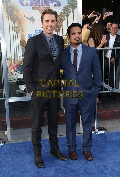 HOLLYWOOD, CA - March 20: Dax Shepard, Michael Pena, At Premiere Of Warner Bros. Pictures' &quot;CHiPS&quot; At TCL Chinese Theatre In California on March 20, 2017.<br /> CAP/MPI/FS<br /> &copy;FS/MPI/Capital Pictures