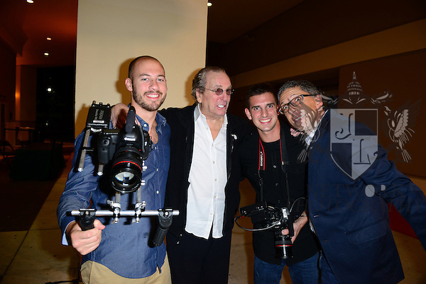 CORAL GABLES, FL - NOVEMBER 20: Danny Aiello (C) attend the premiere screening Of 'Reach Me' Hosted by University Of Miami inside the BankUnited Center Fieldhouse at University of Coral Gables on Thursday November 20, 2014 in Miami, Florida. (Photo by Johnny Louis/jlnphotography.com)