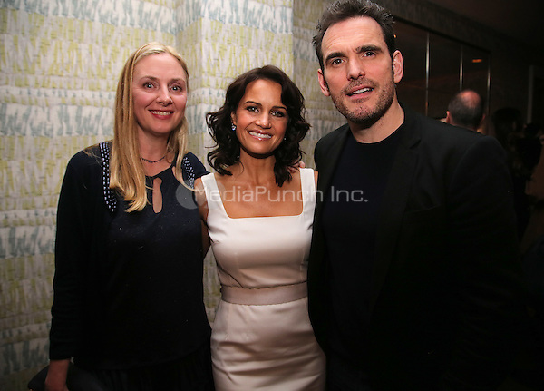 NEW YORK - APRIL 27: Hope Davis, Carla Gugino, and Matt Dillon attend a screening event for the FOX show 'Wayward Pines' at the Crosby Street Hotel on April 27, 2015 in New York City. Credit: mpiPGAP/MediaPunch