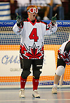 Amy Alsop from Saskatoon in action in a victory against USA. The Canadian team won the gold.<br />