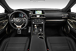 Stock photo of straight dashboard view of a 2015 Lexus RC F Sport 2 Door Coupe 2WD Dashboard