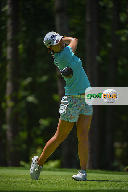 In Gee Chun (KOR) watches her tee shot on 2 during round 1 of the U.S. Women's Open Championship, Shoal Creek Country Club, at Birmingham, Alabama, USA. 5/31/2018.<br /> Picture: Golffile | Ken Murray<br /> <br /> All photo usage must carry mandatory copyright credit (© Golffile | Ken Murray)