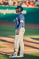 Leugim Castillo (27) of the Helena Brewers bats against the Ogden Raptors at Lindquist Field on July 14, 2018 in Ogden, Utah. Ogden defeated Helena 8-6. (Stephen Smith/Four Seam Images)