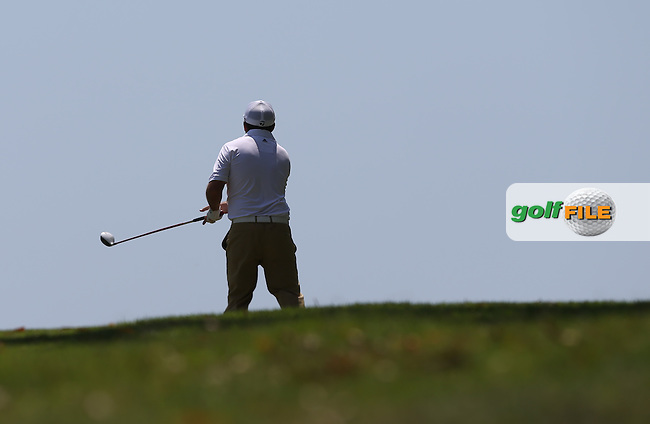 Damien McGrane (IRL) plays over the brow of the hill on the 15th during Round Three of The Africa Open 2014 at the East London Golf Club, Eastern Cape, South Africa. Picture:  David Lloyd / www.golffile.ie