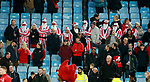 Sheffield Utd fans turn up as stripy santas during the Championship match at Villa Park Stadium, Birmingham. Picture date 23rd December 2017. Picture credit should read: Simon Bellis/Sportimage