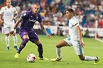 Real Madrid's Achraf and Fiorentina's Cristiano Biraghi during XXXVIII Santiago Bernabeu Trophy at Santiago Bernabeu Stadium in Madrid, Spain August 23, 2017. (ALTERPHOTOS/Borja B.Hojas)