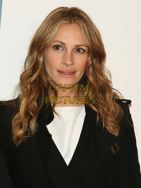 "JULIA ROBERTS .attending the 10th Anniversary Edition of the Tribeca Film Festival - Premiere of ""Jesus Henry Christ"" at the Tribeca Performing Arts Center, New York, NY, USA, April 23rd, 2011..portrait headshot white black wavy hair .CAP/LNC.©TOM/LNC/Capital Pictures."