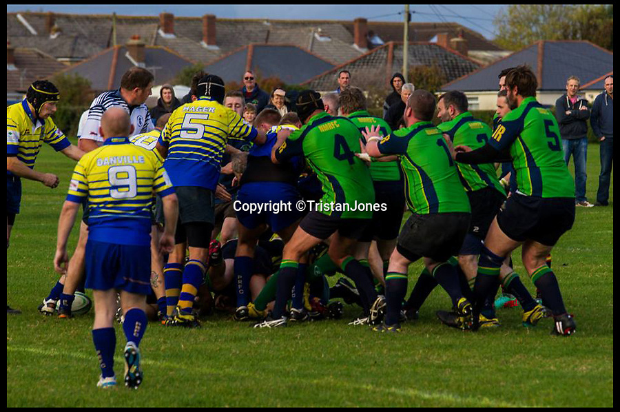 BNPS.co.uk (01202 558833)<br /> Pic: TristanJones/BNPS<br /> <br /> ***Please Use Full Byline***<br /> <br /> Ed Baker and his team playing during the game that left him with a broken nose.<br /> <br /> A man who hasn't been able to smell properly for 20 years, sniffed out a gas leak after a kick to the head during a rugby game restored his lost sense.<br /> <br /> Ed Baker received a size 12 boot to the face when he was playing rugby, which broke his nose.<br /> <br /> But as the swelling went down a week later he realised something was different - he could breathe better for the first time in years.
