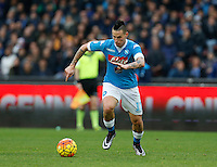 Napoli's Marek Hamsik  during the  italian serie a soccer match,between SSC Napoli and Empoli      at  the San  Paolo   stadium in Naples  Italy , January 31, 2016