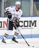 Jamie Oleksiak (Northeastern - 6) - The visiting Merrimack College Warriors defeated the Northeastern University Huskies 4-3 (OT) on Friday, February 4, 2011, at Matthews Arena in Boston, Massachusetts.