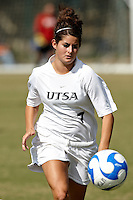 SAN ANTONIO, TX - OCTOBER 26, 2008: The Texas State University Bobcats vs. The University of Texas at San Antonio Roadrunners Women's Soccer at the UTSA Soccer Field. (Photo by Jeff Huehn)