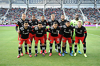 WASHINGTON, DC - FEBRUARY 29: Washington, D.C. - February 29, 2020: D.C. United Starting Eleven. The Colorado Rapids defeated D.C. Untied 2-1 during their Major League Soccer (MLS)  match at Audi Field during a game between Colorado Rapids and D.C. United at Audi Field on February 29, 2020 in Washington, DC.