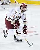 Brian Boyle 10 of Boston College is introduced as a starter. The Eagles of Boston College defeated the Falcons of Bowling Green State University 5-1 on Saturday, October 21, 2006, at Kelley Rink of Conte Forum in Chestnut Hill, Massachusetts.<br />