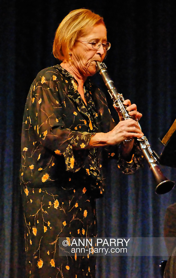 MERRICK - NOV. 13: Clarinetist Naomi Drucker performing in concert presented by Merrick-Bellmore Community Concert Association, November 13, 2010, in Merrick, NY, USA