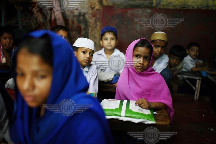 Children at a madrassah in Kolkata.