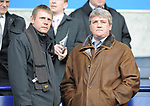England U21 manager Stuart Pearce and Wigan manager Steve Bruce before kick off during the Premier League match at the Reebok Stadium, Bolton. Picture date 12th April 2008. Picture credit should read: Simon Bellis/Sportimage