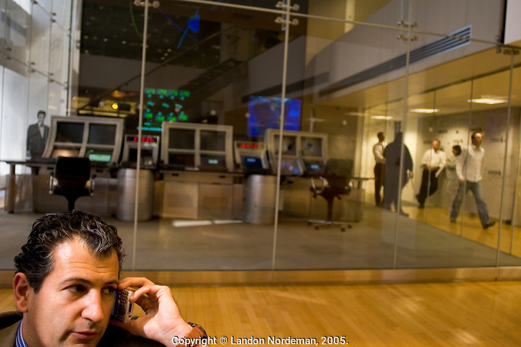 NEW YORK - APRIL 19: Tehar Behbehani, waits for a his interview near the old satelite control room at Sirius Headquarters on April 19, 2005 in New York City. (Photo by Landon Nordeman)