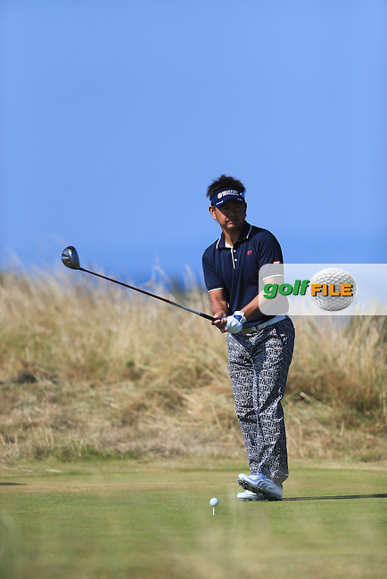Hiroyuki FUJITA (JAP) during round two of  The 142th Open Championship Muirfield, Gullane, East Lothian, Scotland 19/7/2013<br /> Picture Fran Caffrey www.golffile.ie: