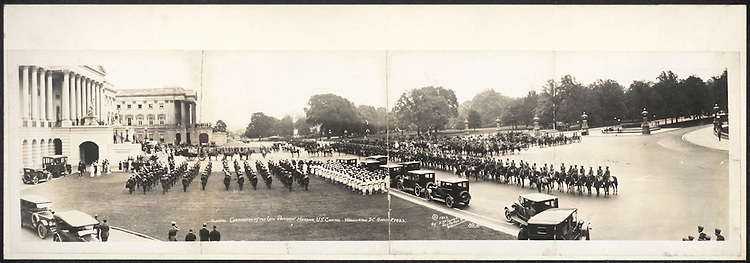 UNITED STATES - Archive photo: Funeral ceremonies of the late President Warren Harding, U.S. Capitol, Washington, D.C., August 8, 1923.  (Photo By FILE PHOTO/Roll Call)