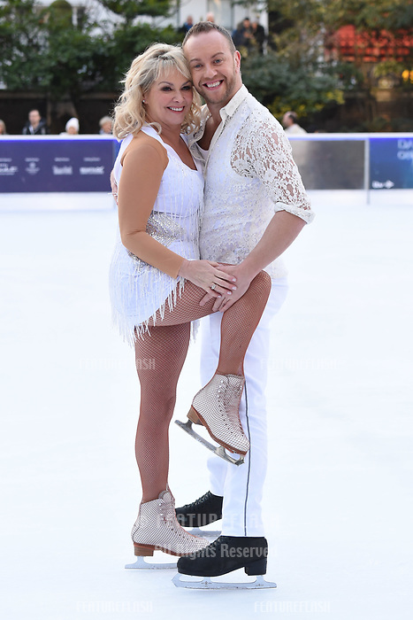Cheryl Baker &amp; Dan Whiston at the &quot;Dancing on Ice&quot; launch photocall at the Natural History Museum, London, UK. <br /> 19 December  2017<br /> Picture: Steve Vas/Featureflash/SilverHub 0208 004 5359 sales@silverhubmedia.com