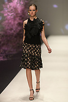 Melbourne, September 7, 2018 - A model wearing Ginger & Smart walks at the Town Hall Runway Seven show in Melbourne Fashion Week in Melbourne, Australia. Photo Sydney Low