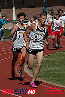 Lafayette's Dylan Quisenberry and Alec Haines went 1-2 in the 800 meters in 1:58 at the 2016 MSHSAA Class 5 District 2 Track and Field Meet at Ladue High School, St. Louis, Saturday, May 14.