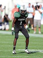 Miami Central Rockets defensive back Donaldven Manning #1 during the second quarter of the Florida High School Athletic Association 6A Championship Game at Florida's Citrus Bowl on December 17, 2011 in Orlando, Florida.  The score at halftime is Armwood 16 - Miami Central 14.  (Mike Janes/Four Seam Images)