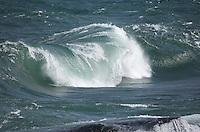 Massive waves on Lake Superior created a special sight. A massive curls before a big splash. Marquette, MI