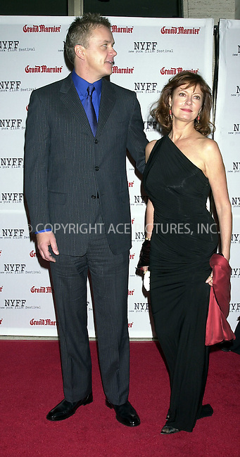 Tim Robbins and Susan Sarandon at the premiere of 'Mystic River,' kicking off the first night of the 41st annual New York Film Festival. New York, October 3, 2003. Please byline: NY Photo Press.   ..*PAY-PER-USE*      ....NY Photo Press:  ..phone (646) 267-6913;   ..e-mail: info@nyphotopress.com