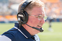 Akron head coach Terry Bowden. The Akron Zips Defeated the Pitt Panthers 21-10 at Heinz Field, Pittsburgh. Pennsylvania on September 27, 2014.