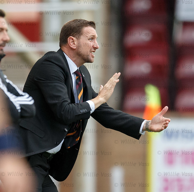 Motherwell manager Ian Baraclough