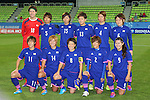 Japan Women's team group line-up (JPN), <br /> SEPTEMBER 18, 2014 - Football / Soccer : <br /> Women's Group Stage <br /> between Japan Women's 12-0 Jordan Women's <br /> at Namdong Asiad Rugby Field <br /> during the 2014 Incheon Asian Games in Incheon, South Korea. <br /> (Photo by YUTAKA/AFLO SPORT)