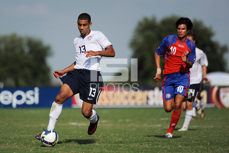 Tony Taylor (13) of the USA. The US U-20 Men's National Team defeated the U-20 Men's National Team of Costa Rica 2-1 in an international friendly during day four of the US Soccer Development Academy  Spring Showcase in Sarasota, FL, on May 25, 2009.