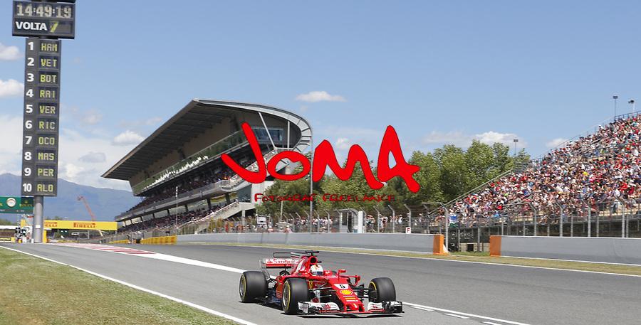 Sebastian Vettel (GER) Ferrari SF70-H  at Formula 1 World Championship,FIA, Spanish Grand Prix, Qualifying, Barcelona. 13.05.2017