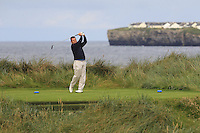 Eamonn Haugh (Castletroy) on the 4th tee during Matchplay Round 1 of the South of Ireland Amateur Open Championship at LaHinch Golf Club on Friday 22nd July 2016.<br /> Picture:  Golffile | Thos Caffrey<br /> <br /> All photos usage must carry mandatory copyright credit   (© Golffile | Thos Caffrey)