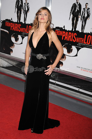 Kasia Smutniak attends the 'From Paris With Love' premiere at the Ziegfeld Theatre  in New York City. January 28, 2010. Credit: Dennis Van Tine/MediaPunch