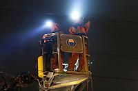 SBB Montage einer Signalbruecke / ZKE Anlage in Steinen SZ