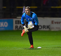 Lincoln City's Ross Etheridge during the warm up<br /> <br /> Photographer Andrew Vaughan/CameraSport<br /> <br /> The Buildbase FA Trophy Semi-Final First Leg - York City v Lincoln City - Tuesday 14th March 2017 - Bootham Crescent - York<br />  <br /> World Copyright &copy; 2017 CameraSport. All rights reserved. 43 Linden Ave. Countesthorpe. Leicester. England. LE8 5PG - Tel: +44 (0) 116 277 4147 - admin@camerasport.com - www.camerasport.com