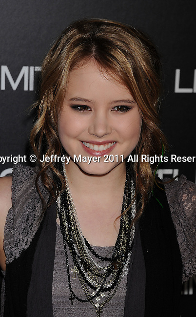 "HOLLYWOOD, CA - MARCH 03: Taylor Spreitler attends the Los Angeles special screening of ""Limitless"" at ArcLight Cinemas Cinerama Dome on March 3, 2011 in Hollywood, California."